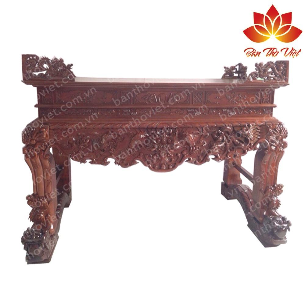Sập thờ ở Gia Lâm | Sập thờ gỗ gụ đẹp theo chuẩn thước Lỗ Ban