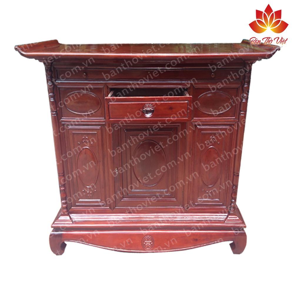 Tủ thờ gỗ dổi chất lượng tốt - màu sắc đẹp - giá thành hợp lí 1