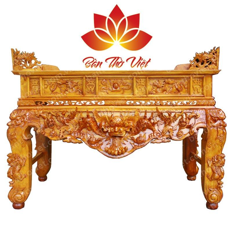 Sập thờ gỗ hương đẹp theo đúng chuẩn kích thước lỗ ban 2
