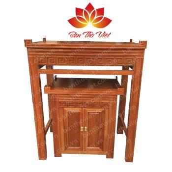 Mẫu tủ thờ ở Thái Bình được chạm khắc đơn giản nhưng khá tinh tế