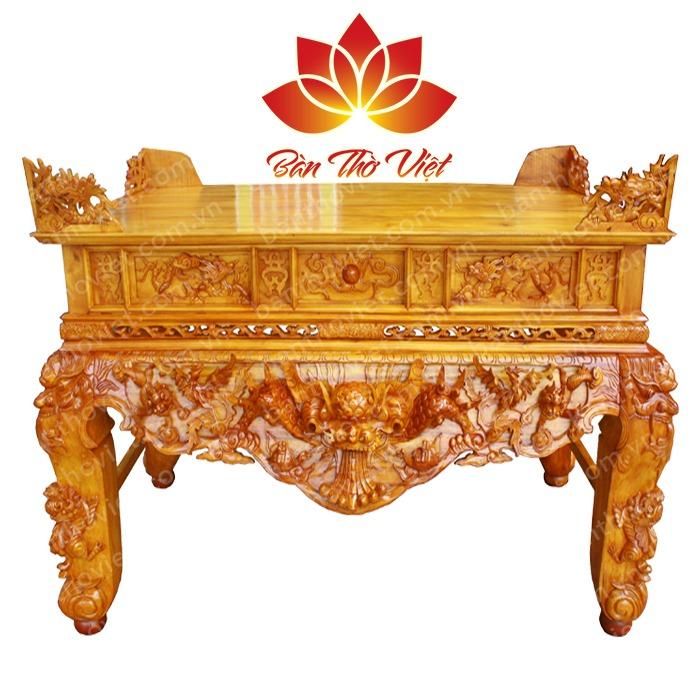 Mẫu sập thờ ở Hòa Bình làm bằng gỗ mít
