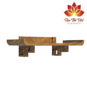 Bàn thờ treo gỗ hương thể hiện sự sang trọng và lòng thành kính 2