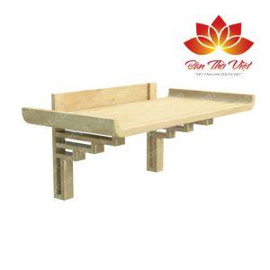 Màu sắc bàn thờ treo gỗ mít rất đẹp và sang