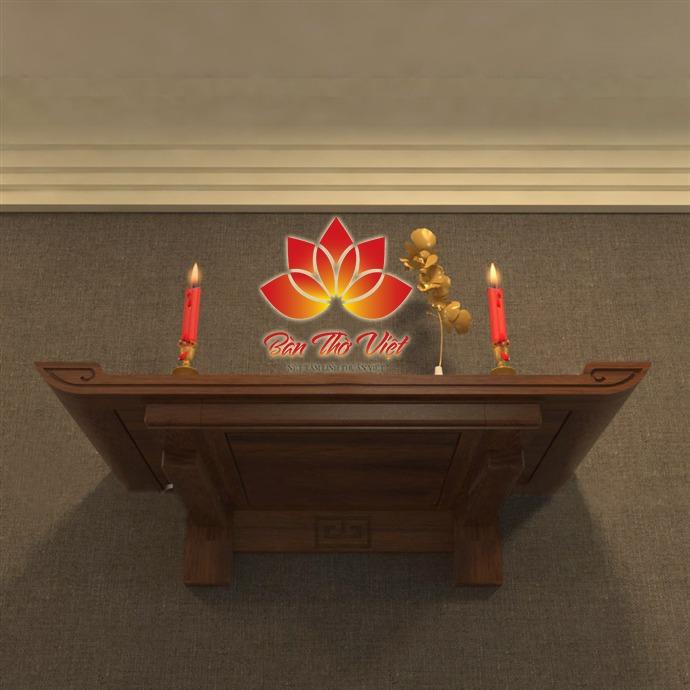 Bàn thờ treo tường gỗ Pơ Mu chất lượng cao - GIÁ RẺ nhất 2