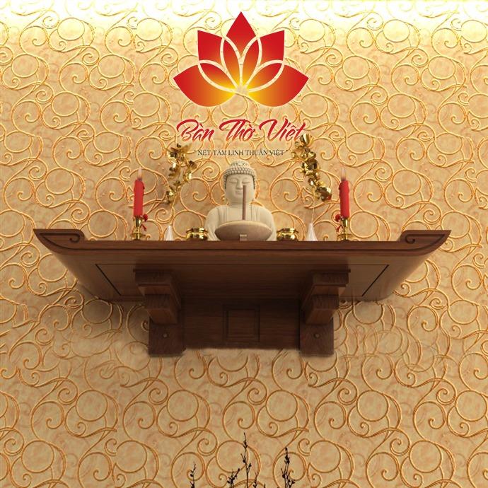 Bàn thờ Phật treo tường đơn giản cho những căn hộ chung cứ 1