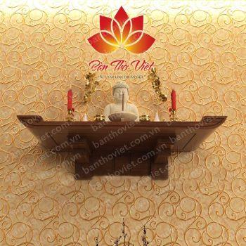 Mẫu bàn thờ treo tường Ninh Bình đẹp dành cho các hộ chung cư