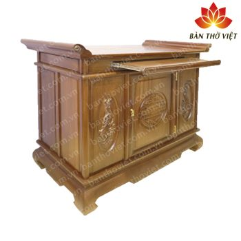 Mẫu tủ thờ ở Nam Định trạm khắc đơn giản