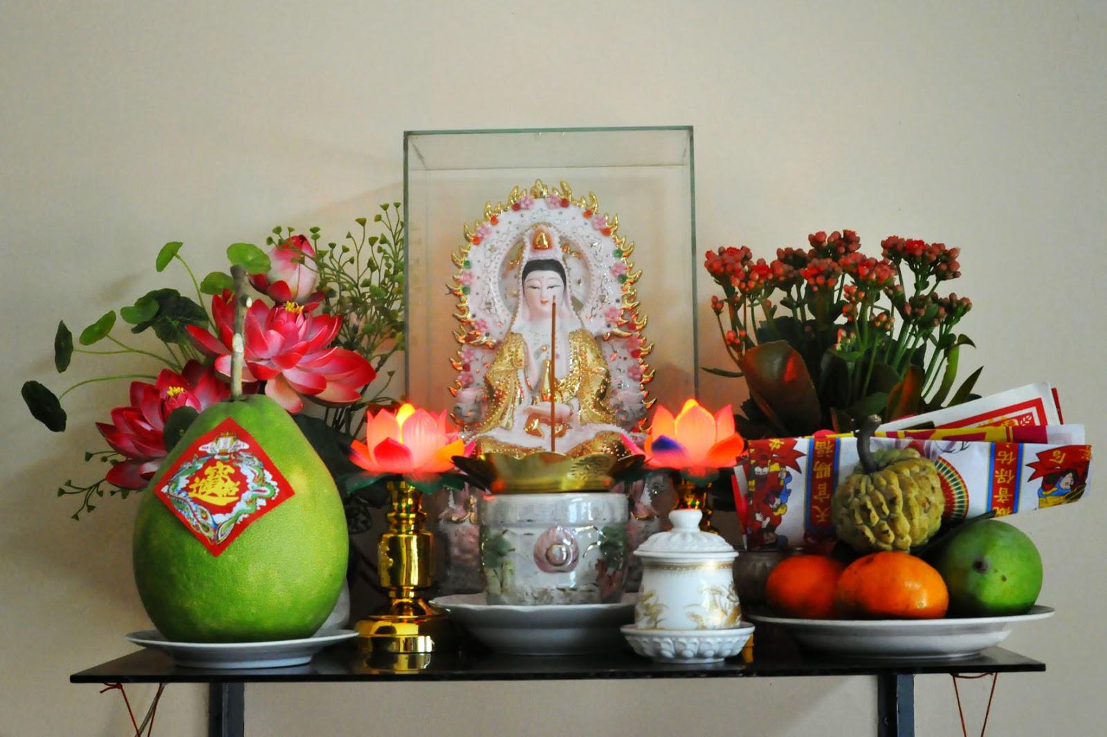 Tủ thờ Phật bà quan âm tại nhà và những điều cần lưu ý 2