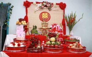 Những vật phải có trên bàn thờ lễ ăn hỏi hay lễ đính hôn 1