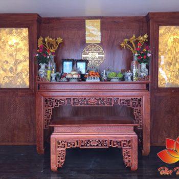 Mẫu bàn thờ ở Hòa Bình được chạm khắc tinh xảo