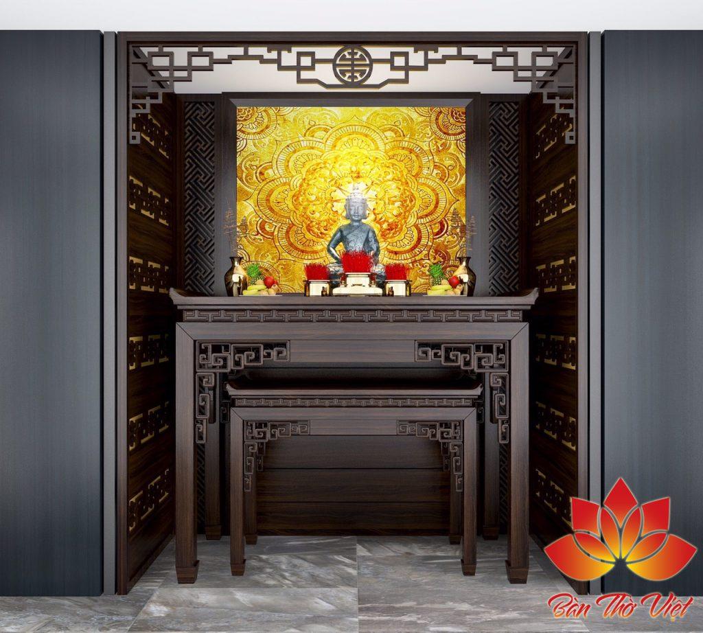 Các mẫu đèn trang trí phòng thờ đẹp và ấn tượng sang trọng hơn