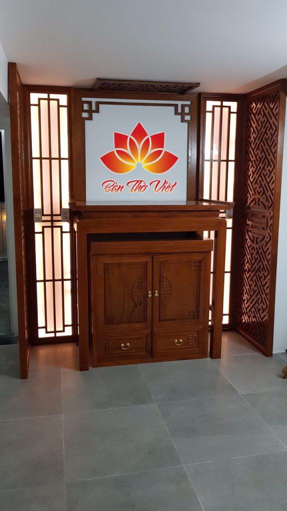 Cách lựa chọn gỗ làm tủ thờ hiện đại hợp phong thủy và đẹp
