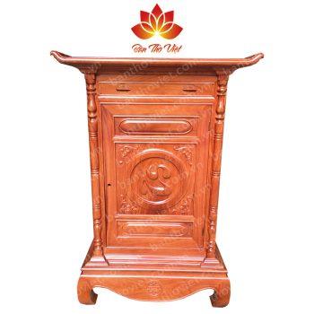Mẫu tủ thờ ở Tuyên Quang được chạm khắc đơn giản