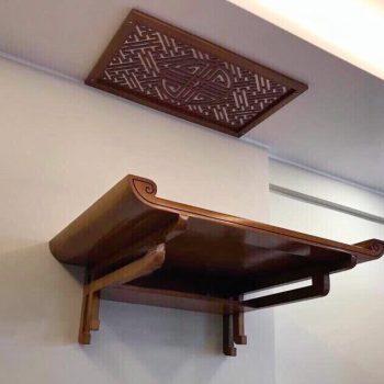 Mẫu bàn thờ treo tường Điện Biên được thiết kế chuẩn thước Lỗ Ban