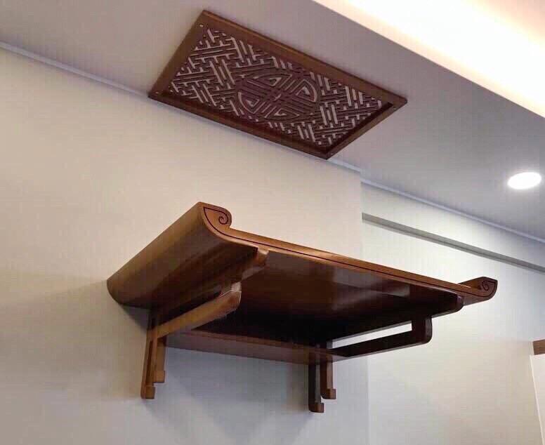 Bàn thờ treo tường ở Vĩnh Phúc: Vị trí và hướng đặt hợp phong thủy