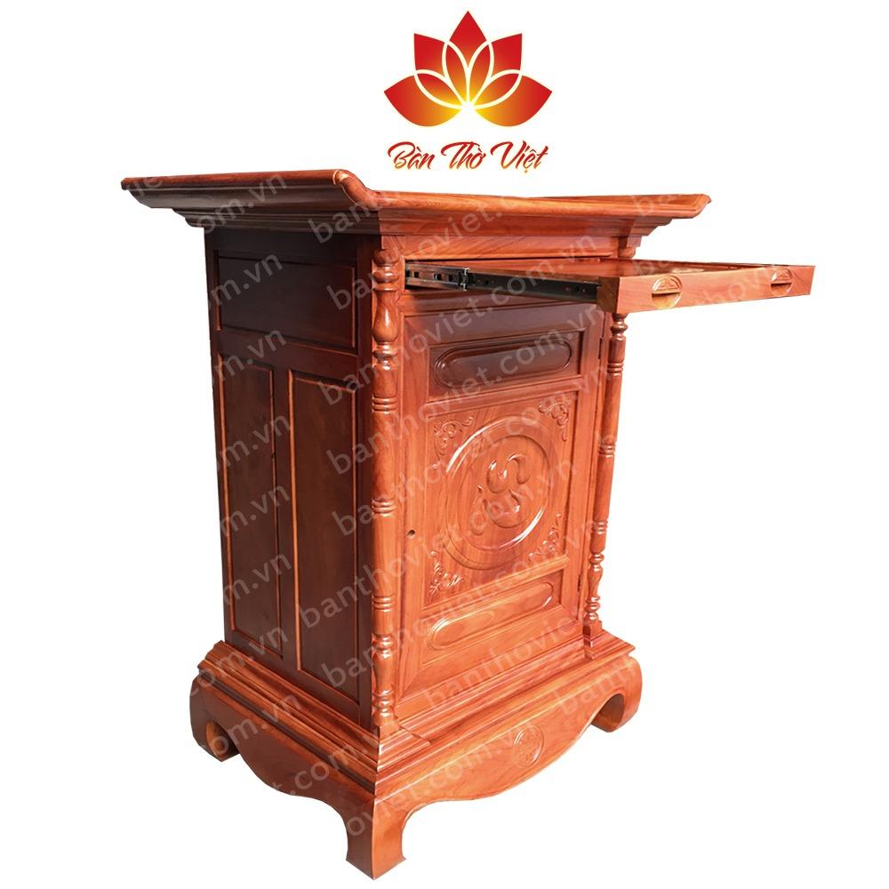 Mẫu tủ thờ ở Thái Bình hiện đại có thêm ngăn kéo