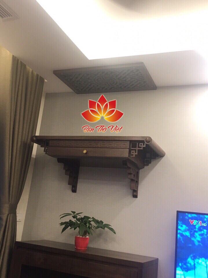 Mẫu bàn thờ treo tường Gia Lâm hiện đại, hợp phong thủy gia chủ