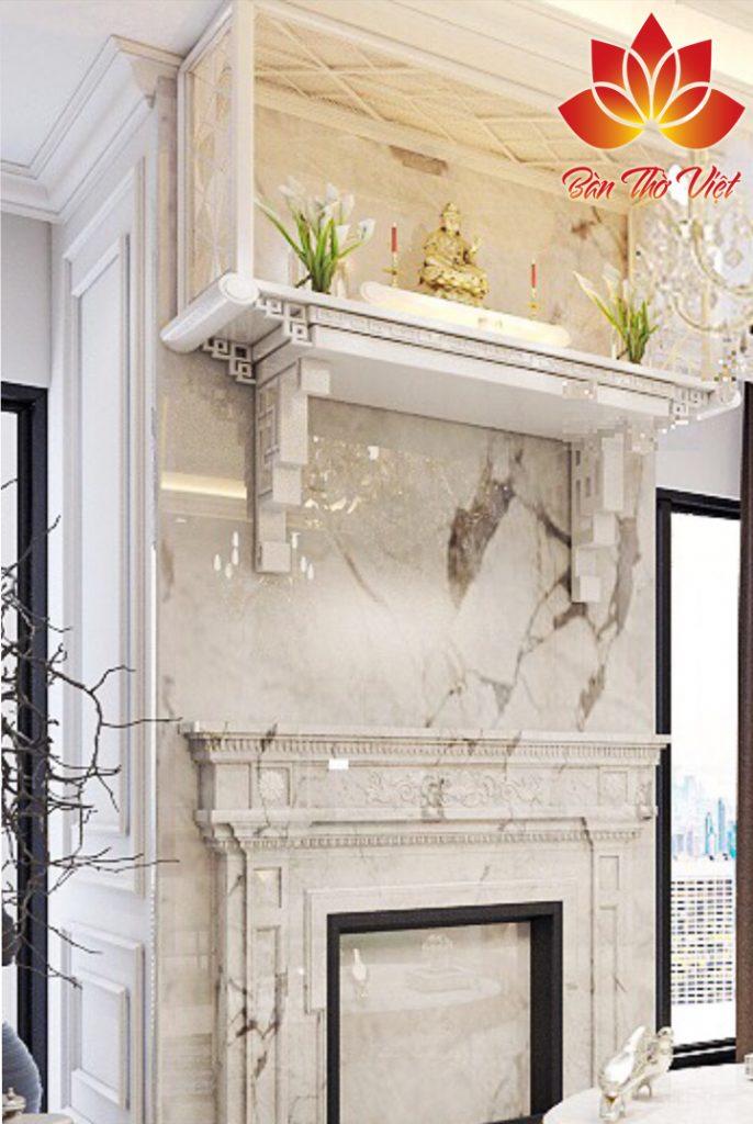 Mẫu bàn thờ treo tường Ninh Bình đẹp được thiết kế tinh xảo