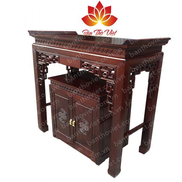 Mẫu bàn thờ ở Thái Bình được thiết kế đơn giản