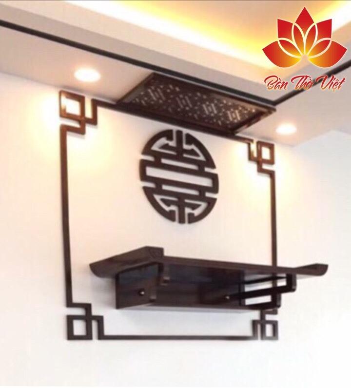Mẫu bàn thờ treo tường thiết kế tinh xảo ở Hà Nam