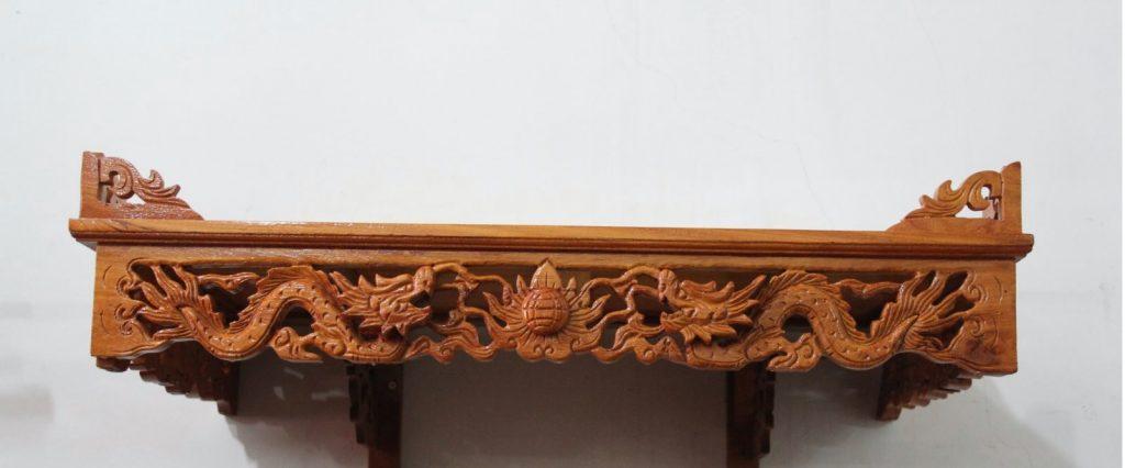 Bàn thờ treo tường chạm rồng - Tôn thêm vẻ trang nghiêm cho không gian thờ cúng 2