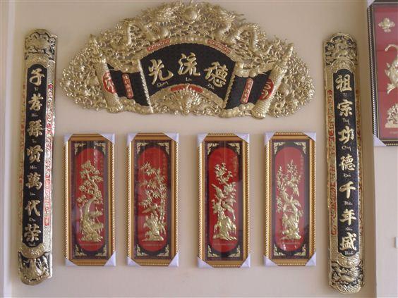 Mẫu liễn treo bàn thờ gia tiên Đẹp - Thịnh hành nhất năm 2018 2