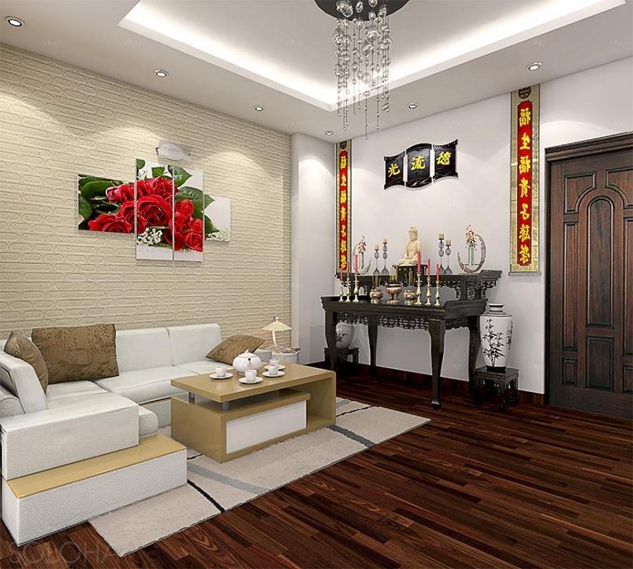 mẫu bàn thờ thiết kế đơn giản cho phòng thờ chung cư