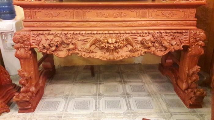 Sập thờ chân nghê đẹp - Điêu khắc tinh xảo tại bàn thờ Việt 1
