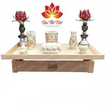 Tổng hợp các mẫu bàn thờ treo tường 2 tầng đẹp được thiết kế hiện đại