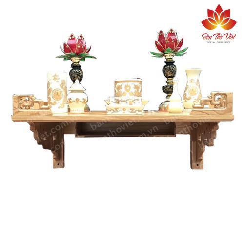 Mẫu bàn thờ treo tường Mê Linh được nhiều khách hàng lựa chọn