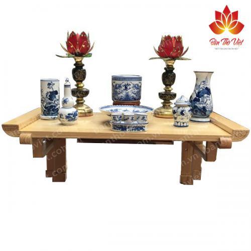 mẫu bàn thờ treo tường cho chung cư nhỏ đẹp hiện đại