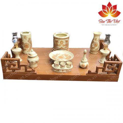 Bàn thờ treo tường Hải Phòng 100% gỗ tự nhiên không lẫn tạp chất