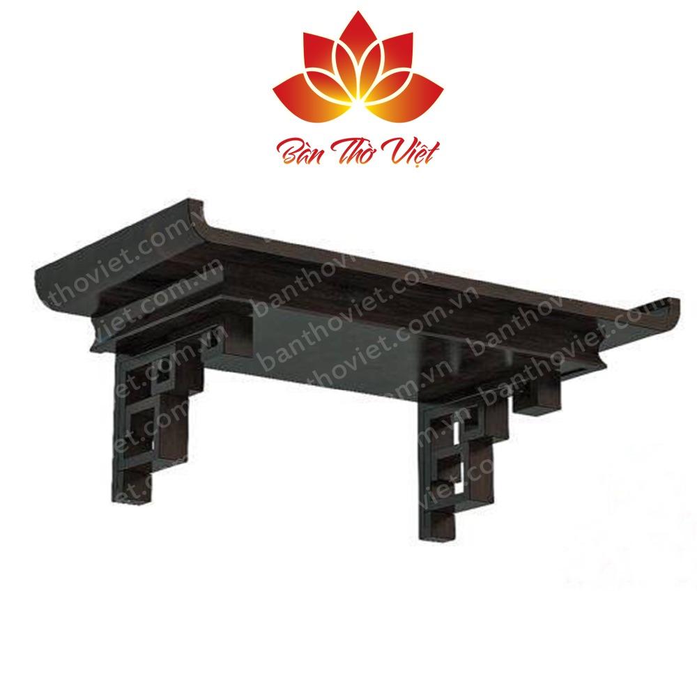 Mẫu bàn thờ treo tường tại Vinh được làm bằng gỗ gụ
