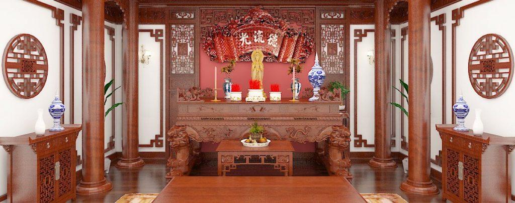 Các mẫu sập thờ ở Thái Bình được làm bằng gỗ tự nhiên đẹp