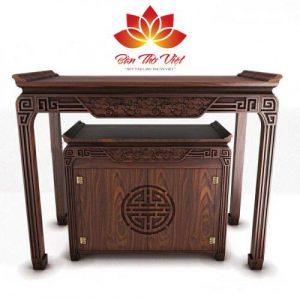 Mẫu tủ thờ ở Việt Trì - Phú Thọ trạm khắc đơn giản