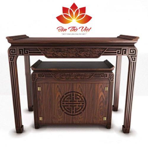 Mẫu tủ thờ ở Tuyên Quang được thiết kế khá độc đáo