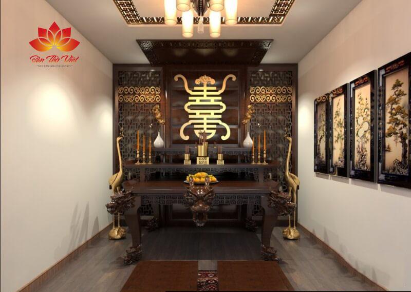 Môt số mẫu trần phòng thờ được làm bằng thạch cao đẹp