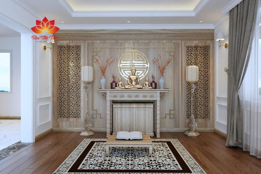 Mẫu thiết kế phòng thờ Phật