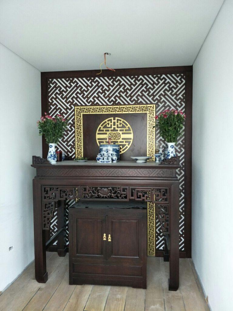 Những mẫu bàn thờ cho phòng thờ chung cư hiện đại