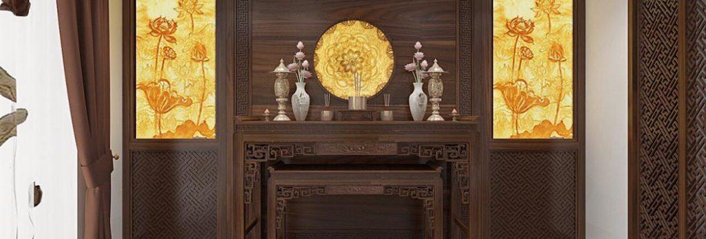 Mẫu nội thất phòng thờ đẹp mà đơn giản cho không gian thờ cúng tôn nghiêm