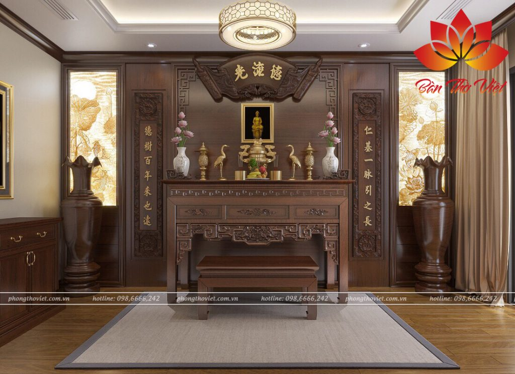 Các mẫu trần phòng thờ đẹp cho không gian thờ cúng tôn nghiêm và trang trọng