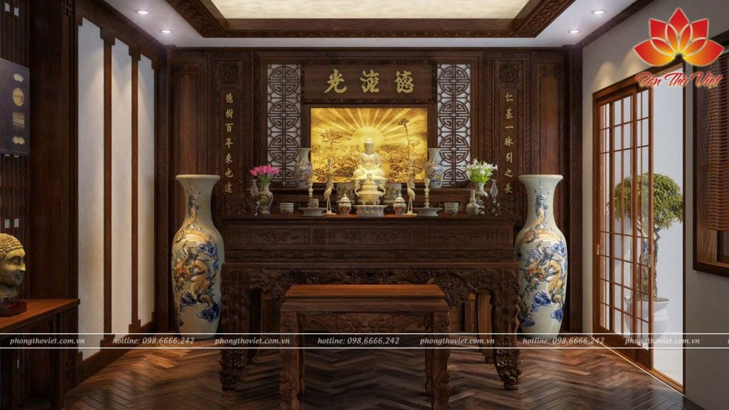 Mẫu tủ thờ Phật Nhật Bản đẹp được thiết kế độc đáo chất lượng cao