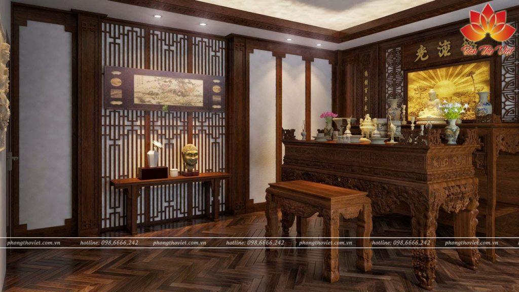 Các mẫu vách ngăn phòng thờ Đẹp và Ấn tượng cho không gian thờ cúng sang trọng