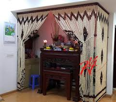 Rèm phòng thờ | Rèm che bàn thờ Đẹp - Thiết kế hợp phong thủy