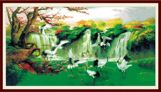 4 Mẫu tranh treo phòng thờ HỢP phong thủy mang Tài - Phúc - Lộc vào nhà