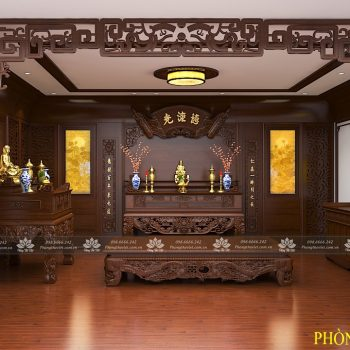 Phòng thờ sang trọng cho biệt thự tân cổ điển