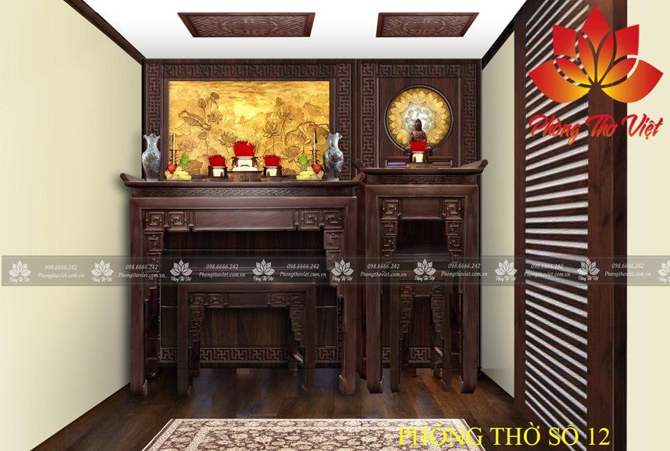 Mẫu thiết kế phòng thờ gia đình