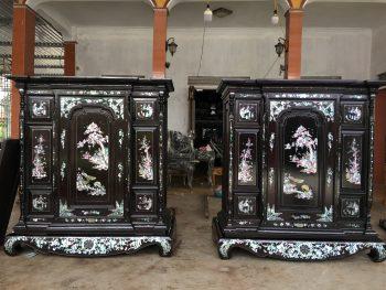 Các mẫu tủ thờ khảm trai đẹp cho không gian thờ cúng gia đình