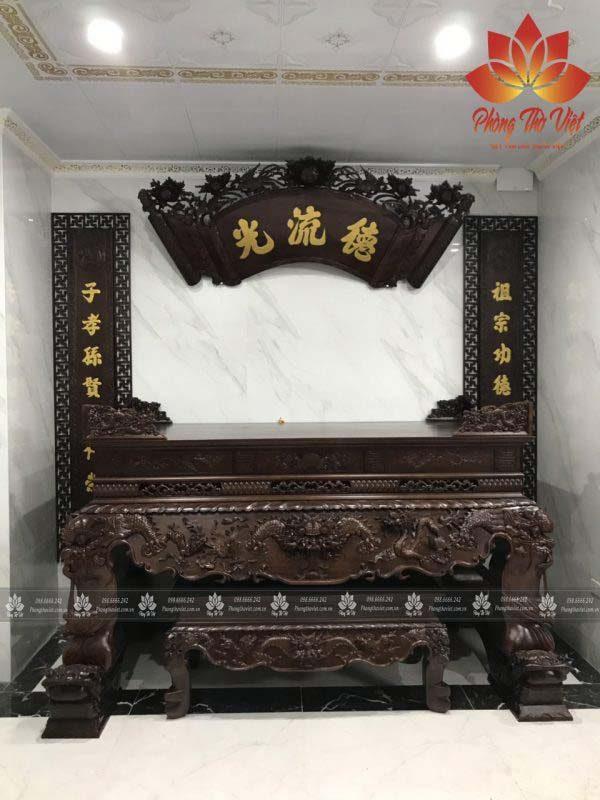 Sập thờ Tứ Linh ST42