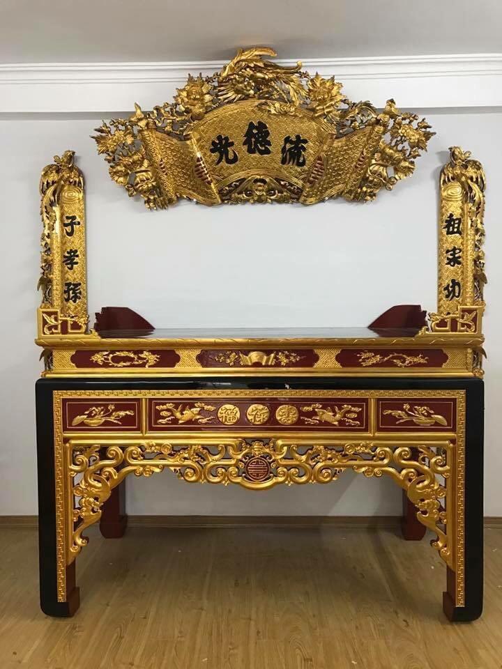 Bàn thờ sơn son thếp vàng giá như thế nào ?